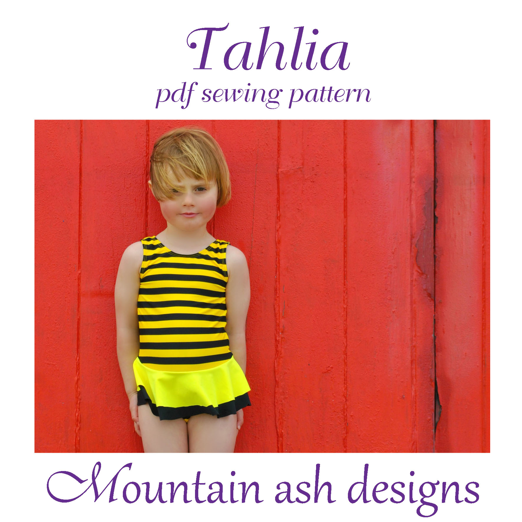 Tahlia Swimsuit and Dance Costume in Girls Sizes 2-14