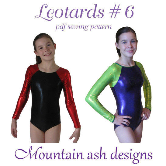 Leotards #6 Raglan Sleeve Sewing Pattern in Girls Sizes 2-14 at Makerist - Image 1