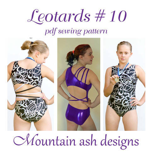 Leotards #10 Leotard and Swimsuit Sewing Pattern in Girls Sizes 2-14