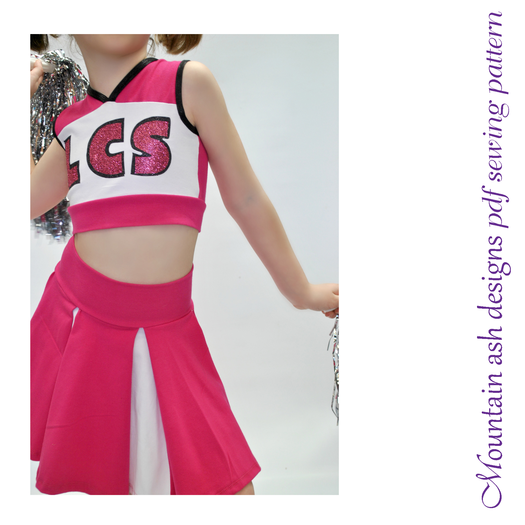 Cheer 1 Cheerleading Costume Sewing Pattern in Girls Sizes 2-14