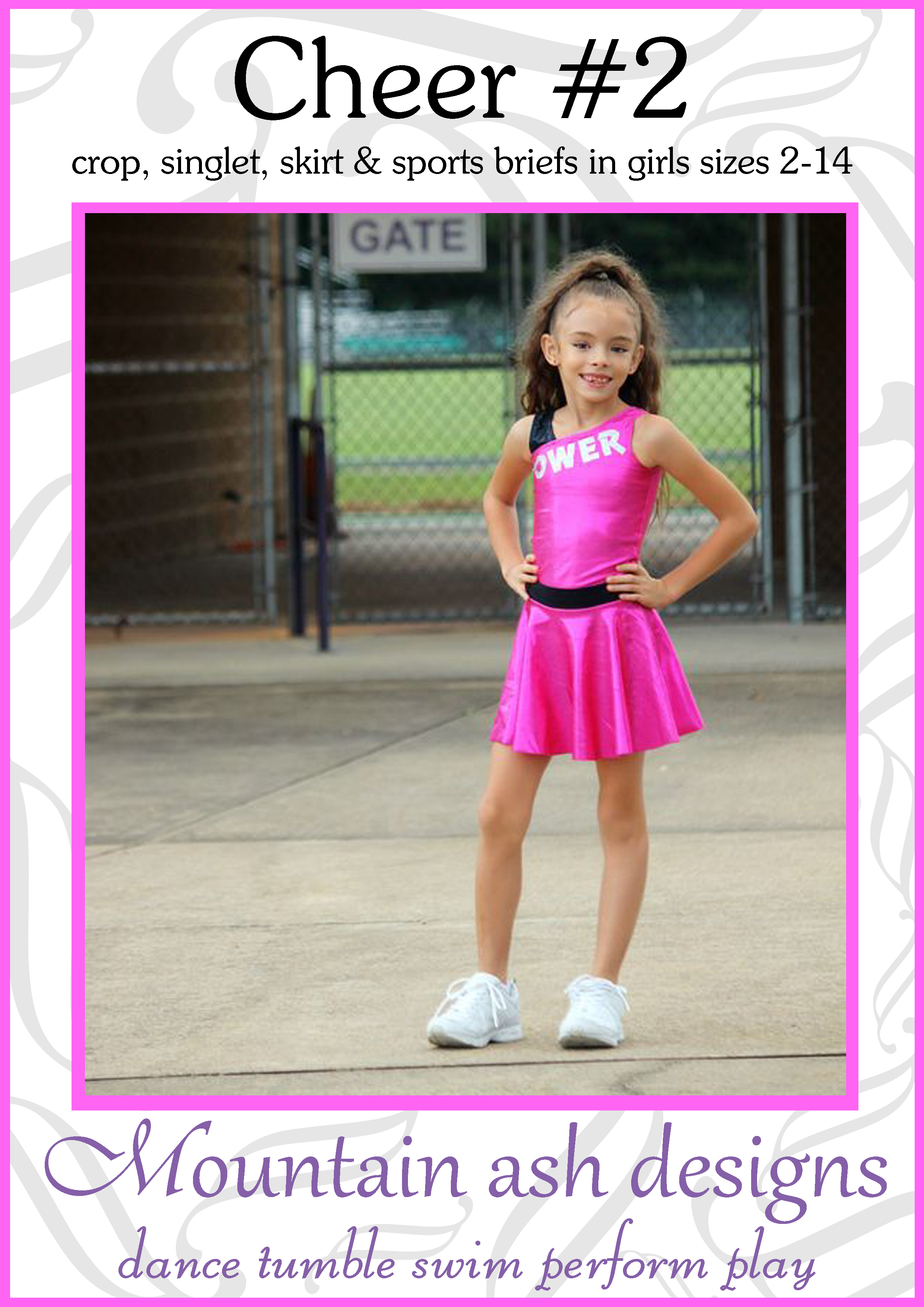 Cheer 2 Cheerleading Uniform Sewing Pattern in Girls Sizes 2-14