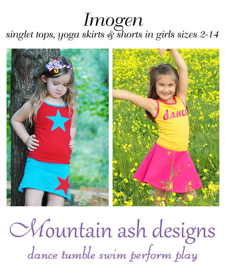 Imogen Tank, Skirt and Shorts Sewing Pattern in Girls Sizes 2-14 at Makerist - Image 1