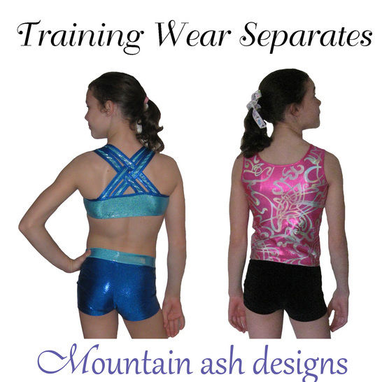 Training Wear Separates #3 Crop and Shorts in Girls Sizes 2-14 at Makerist - Image 1