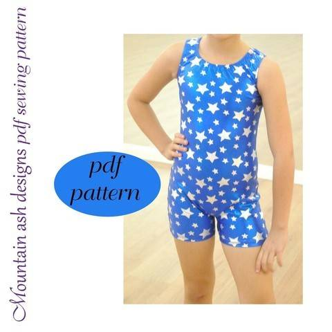 Matilda Unitard and Vintage Swimsuit Sewing Pattern in Girls Sizes 2-14 at Makerist