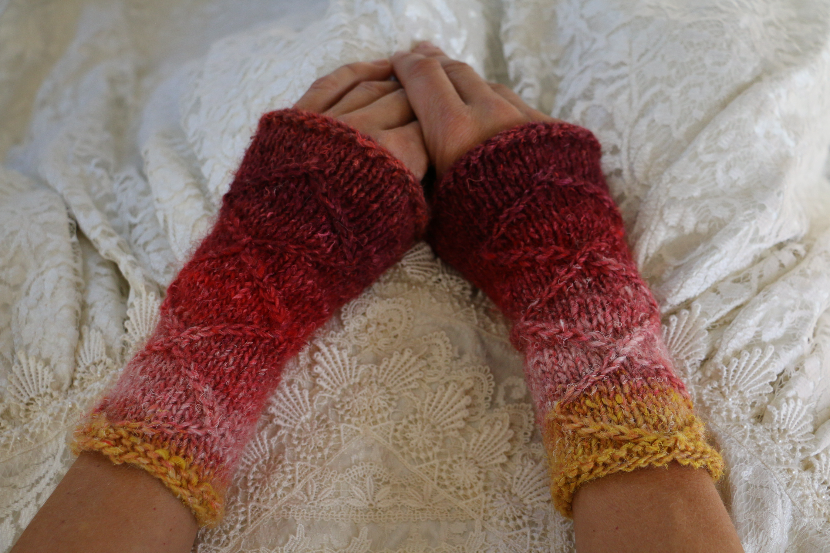 Whatever Wrist Warmers - knitting pattern