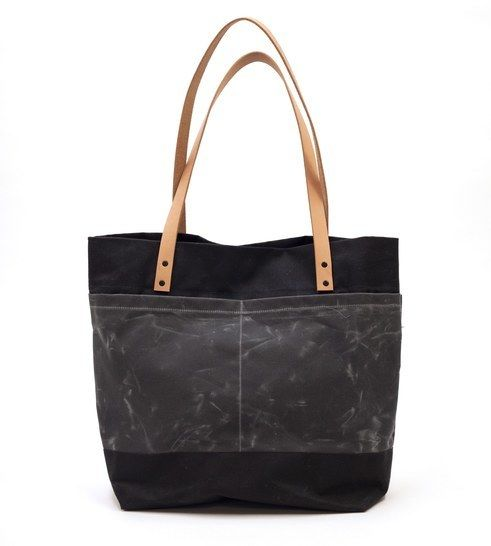 """Canvas  & Leather Tote Bag - Easy to Follow Illustrated Modern Sewing Pattern, """"The Oberlin"""" at Makerist - Image 1"""