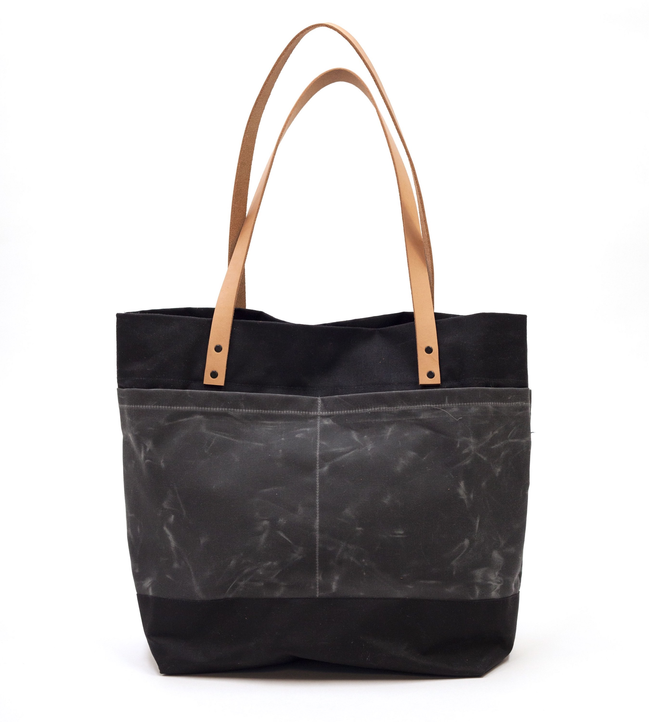 "Canvas  & Leather Tote Bag - Easy to Follow Illustrated Modern Sewing Pattern, ""The Oberlin"""
