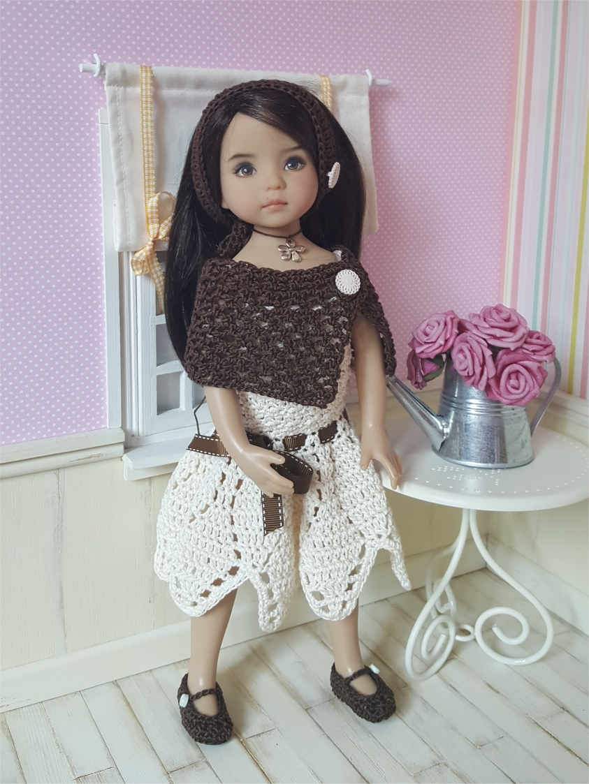 Sarah : crochet outfit for Little Darling Effner Doll