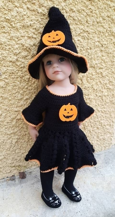 Miss Halloween: crochet outfit for 45-55 cm doll at Makerist