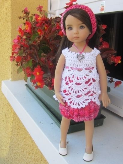 Begonia : crochet outfit for Little Darling Effner Doll at Makerist - Image 1