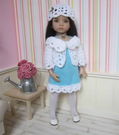Frost : crochet outfit for Little Darling Effner Doll