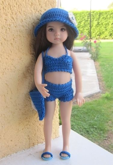 Lagoon : crochet outfit for Little Darling Effner Doll at Makerist - Image 1