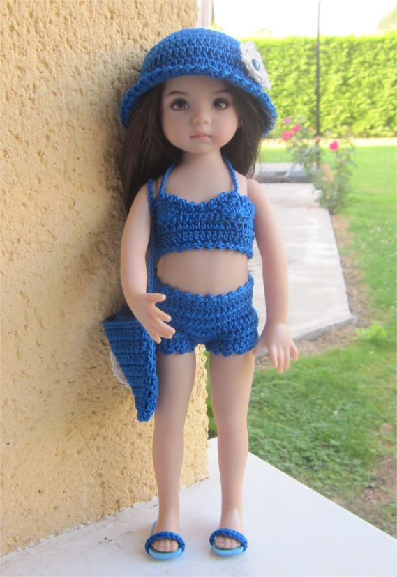 Lagoon : crochet outfit for Little Darling Effner Doll