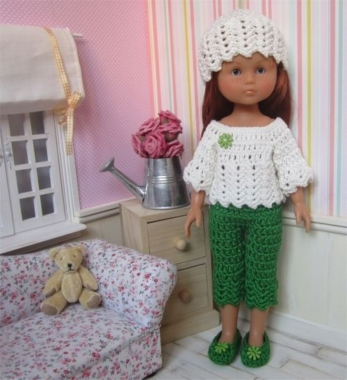 Spring : crochet outfit for 32-33cm doll at Makerist - Image 1