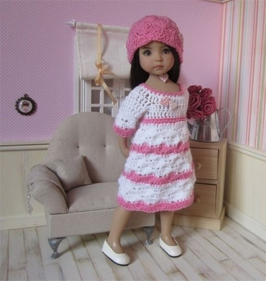 Small hearts : crochet outfit for Little Darling Effner Doll at Makerist - Image 1