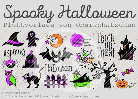 Plotterdatei Plottvorlage Spooky Halloween