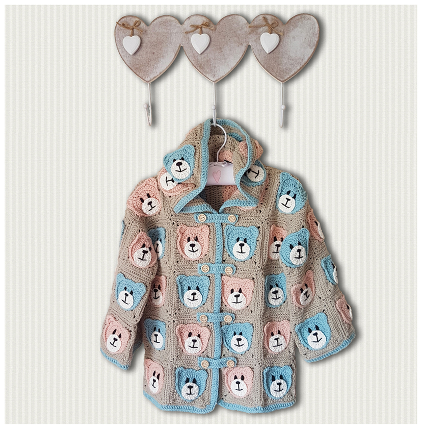 Teddy Bears Picnic Jacket for 2 to 4 year olds