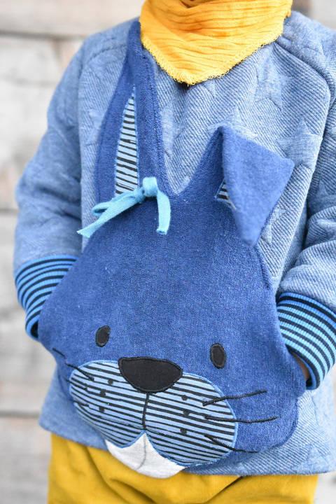 Kuschelfreunde Muffs • 4er-Set • Bär Panda Maus Hase bei Makerist