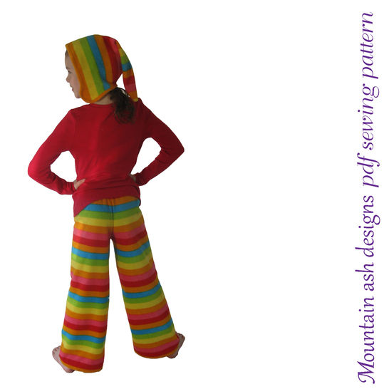 Allie Pixie Hat and Quick Easy Pants Sewing Pattern in Girls Sizes 1-14 at Makerist - Image 1