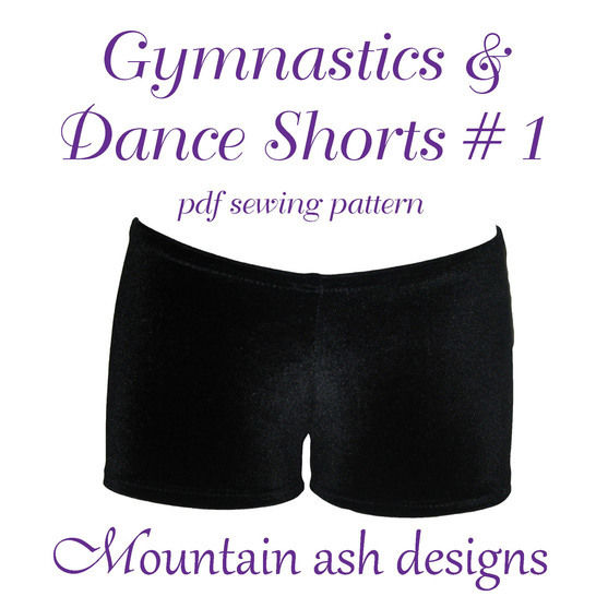 Gymnastics Dance Shorts 1 Sewing Pattern in Girls Sizes 2-14 at Makerist - Image 1