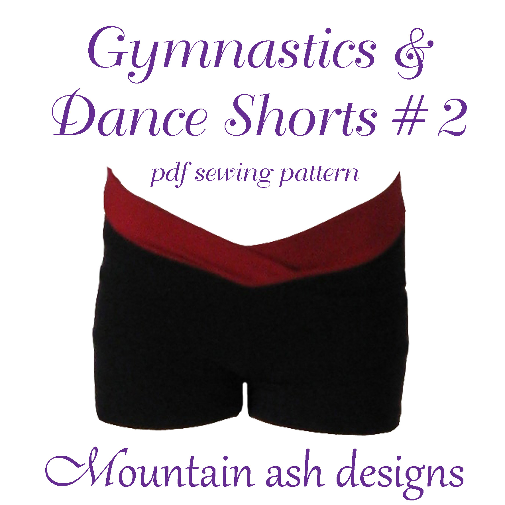 Gymnastics and Dance Shorts 2 Sewing Pattern in Girls Sizes 2-14