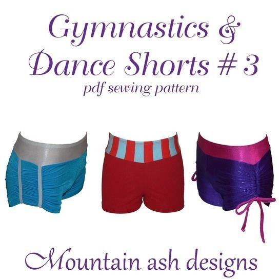 Gymnastics & Dance Shorts 3 in Ladies Sizes Sewing Pattern at Makerist - Image 1