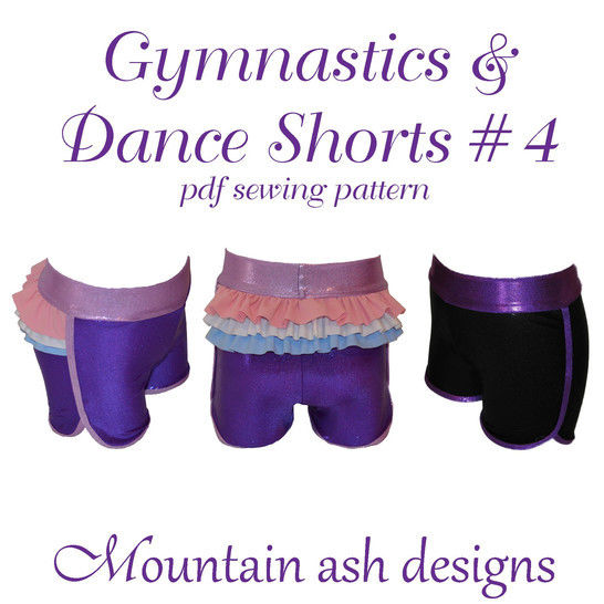 Gymnastics and Dance Shorts 4 Ruffle Back Shorts in Girls Sizes 2-14 at Makerist - Image 1