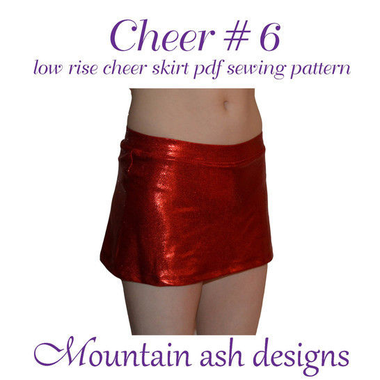 Cheer 6 Low Rise Cheerleading Skirt Sewing Pattern in Girls Sizes 2-14 at Makerist - Image 1
