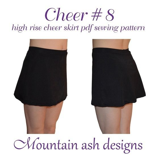 Cheer 8 High Rise Cheerleading Skirt in Girls Sizes 2-14 at Makerist - Image 1