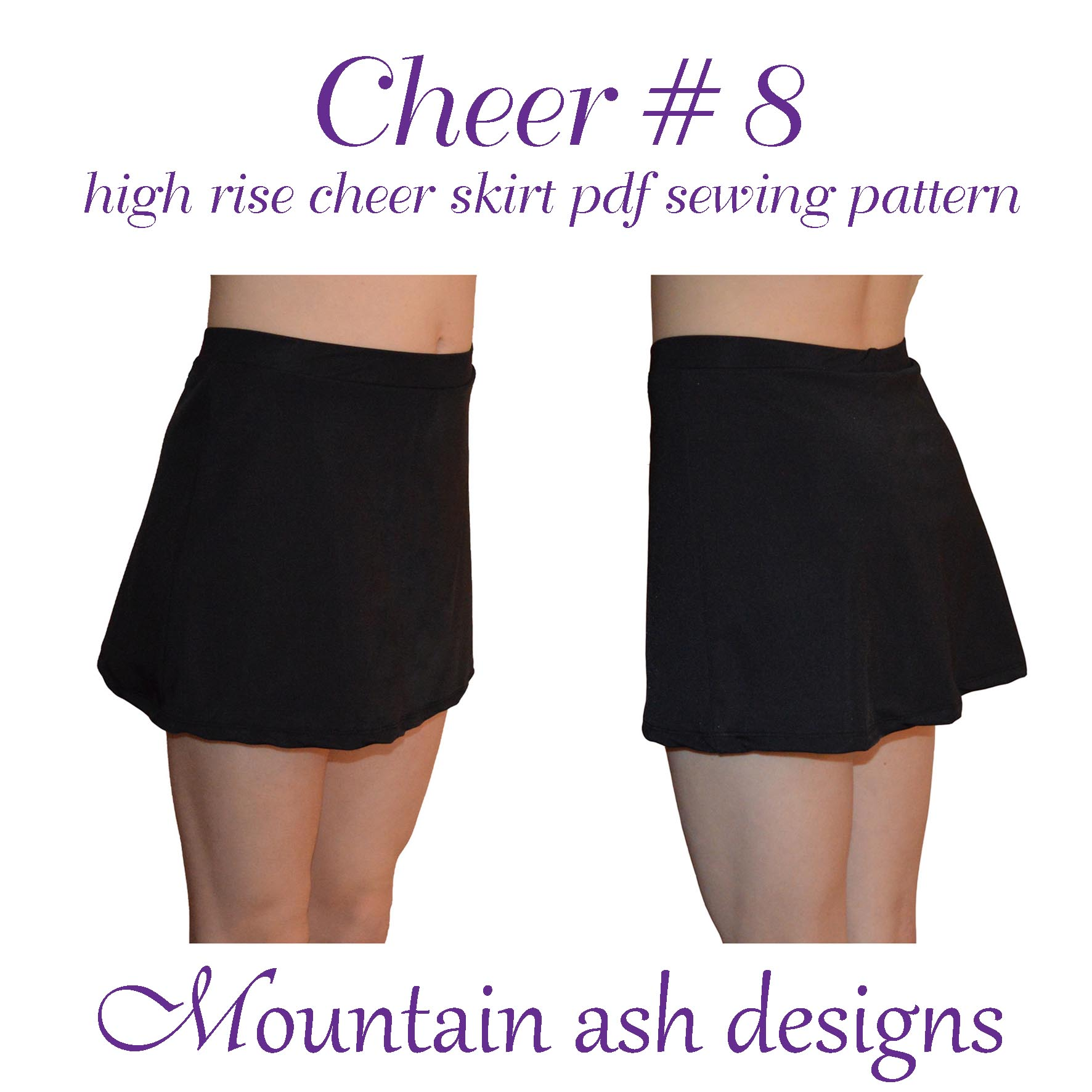 Cheer 8 High Rise Cheerleading Skirt in Girls Sizes 2-14