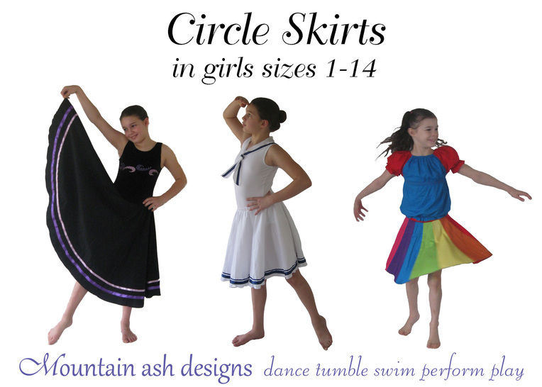 Circle Skirts Dance Skirts Sewing Pattern in Girls Sizes 1-14 at Makerist - Image 1