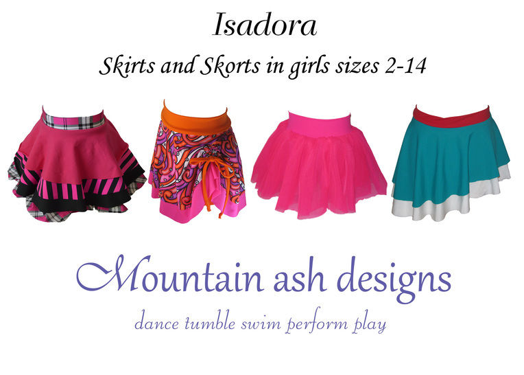 Isadora Dance skirts and Skorts Sewing Pattern in Girls Sizes 2-14 at Makerist - Image 1