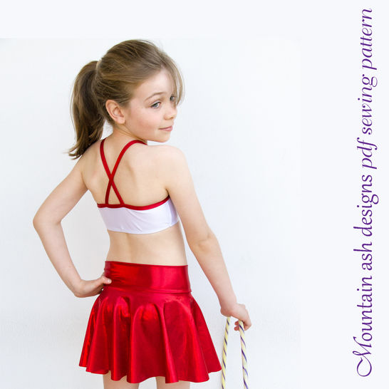 Phoebe Dance Skirts Sewing Pattern in Girls Sizes 2-14 at Makerist - Image 1