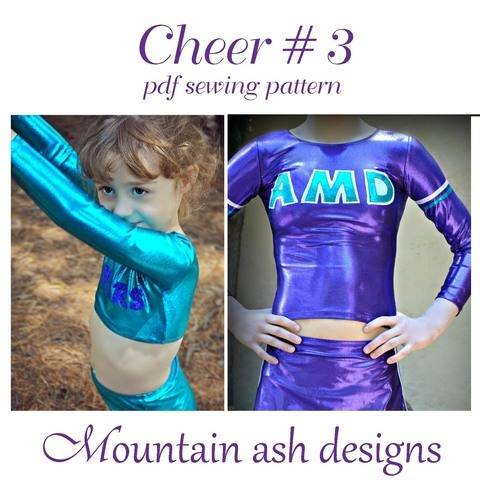Cheer 3 Cheerleading Top Girls Sizes 2-14 Sewing Pattern at Makerist