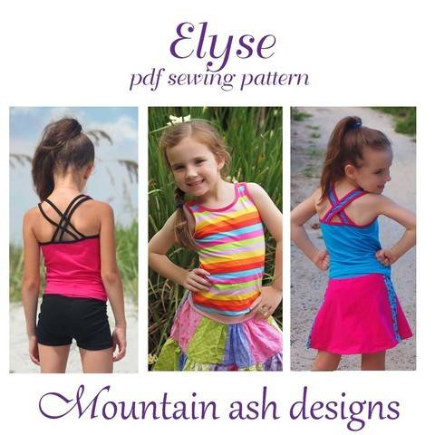 Elyse Singlet Top in Girls Sizes 2-14 at Makerist