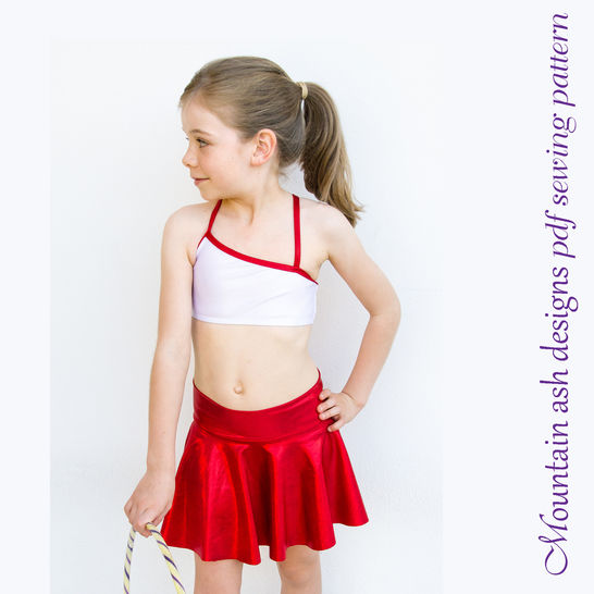 Gymnastics and Dance Tops 1 in Girls Sizes 2-14 at Makerist - Image 1