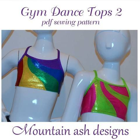 Gymnastics and Dance Rainbow Tops 2 in Girls Sizes 2-14 at Makerist
