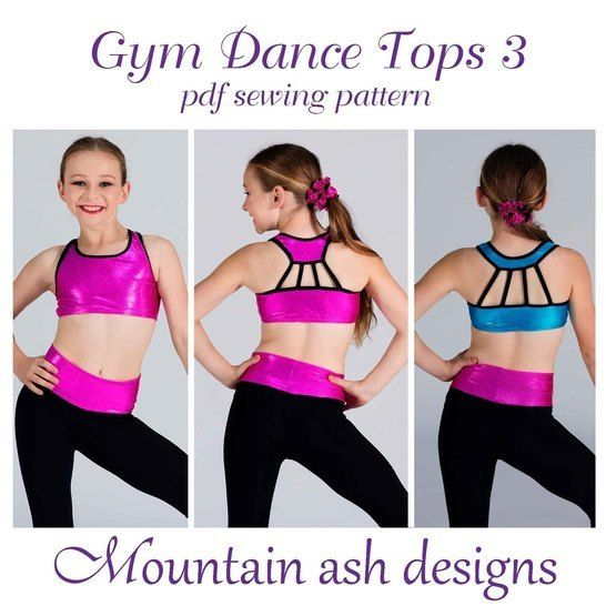 Gymnastics and Dance Tops 3 in Girls Sizes 2-14 at Makerist - Image 1