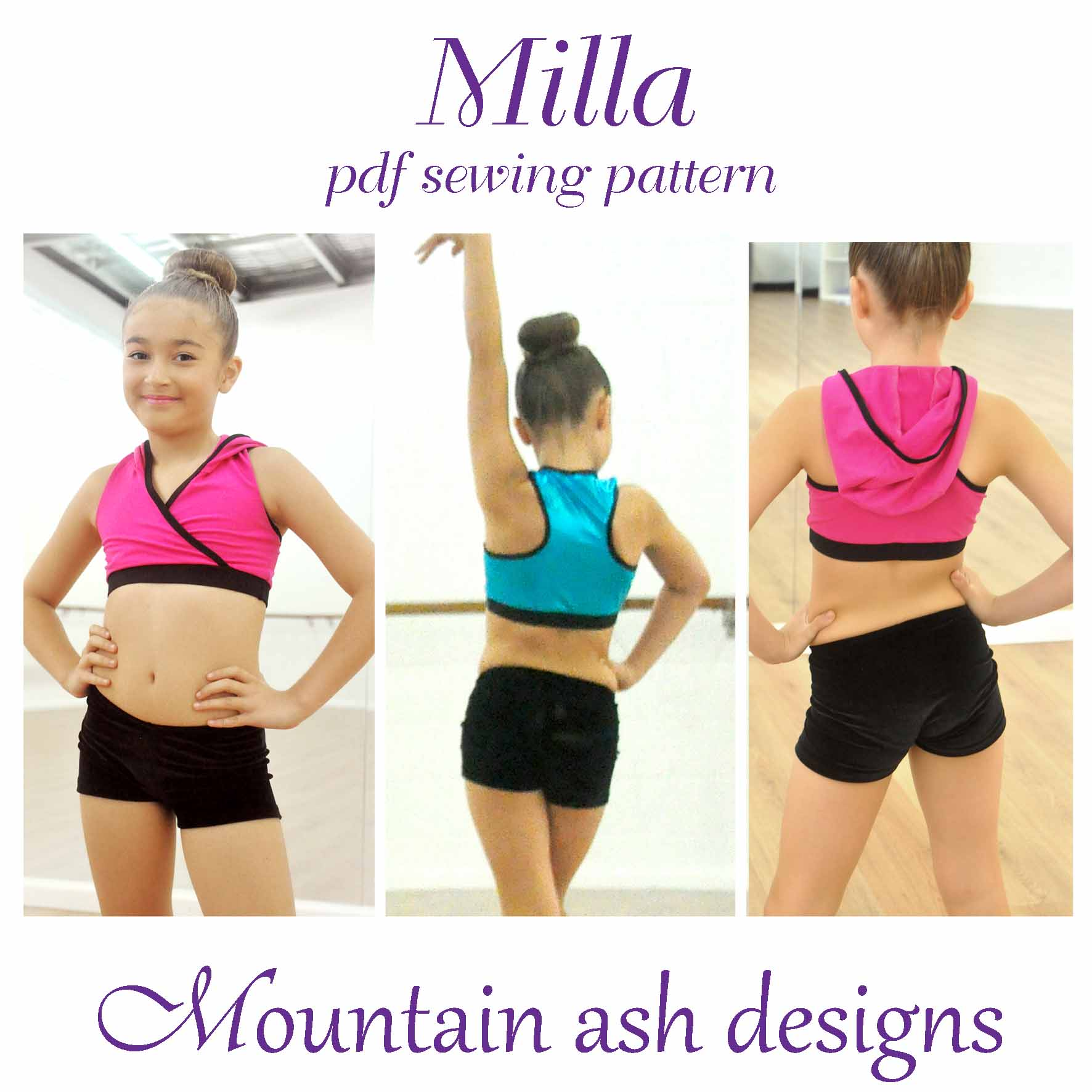 Milla Crossover Dance Top in Girls Sizes 2-14