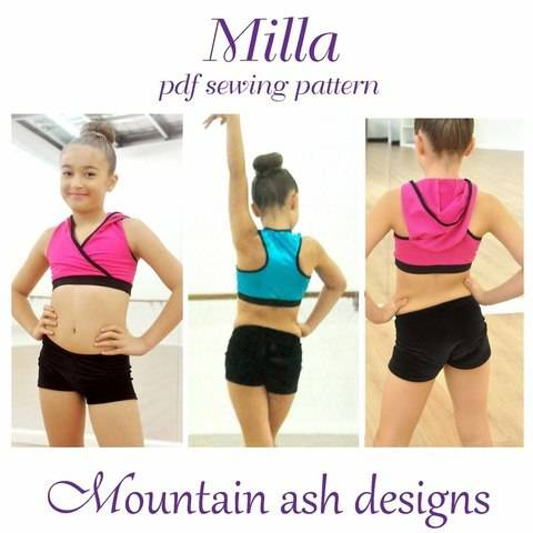 Milla Crossover Dance Top in Girls Sizes 2-14 at Makerist