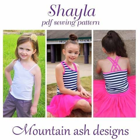 Shayla Singlet Top in Girls Sizes 2-14 at Makerist