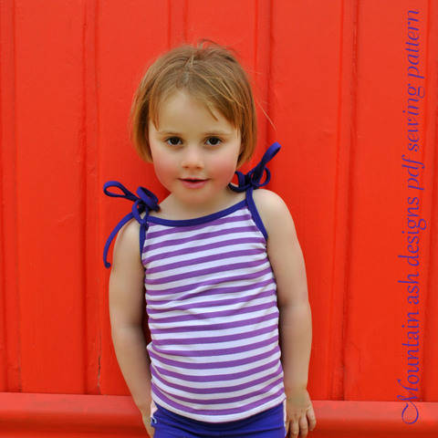 Singlet Tops for Summer Days in Girls Sizes 2-14 at Makerist