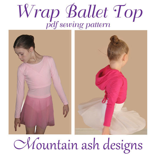Wrap Ballet Tops in Girls Sizes 1-14 at Makerist - Image 1