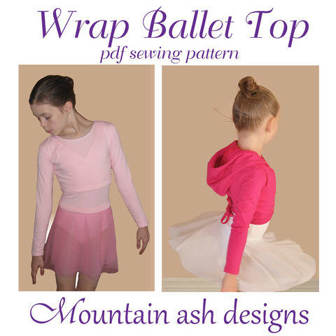 Wrap Ballet Tops in Girls Sizes 1-14 at Makerist