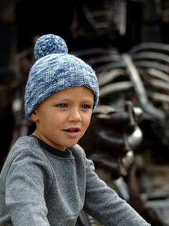 Retro beanie - knitting pattern