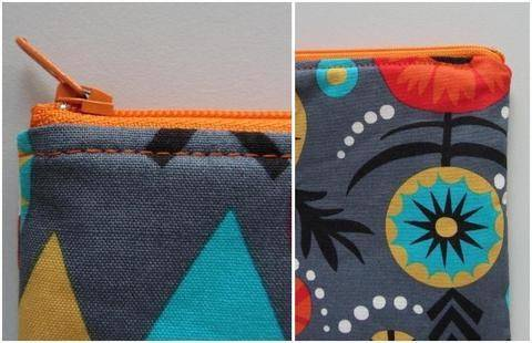 Perfect zip pouch pattern - zipper bag tutorial sewing pouches  at Makerist