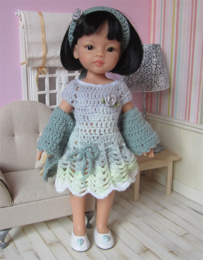 Perrine : crochet outfit for Paola Reina or Cherie Doll