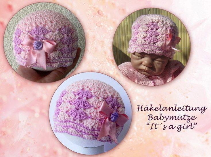 Häkelanleitung Babymütze - It's a girl bei Makerist - Bild 1