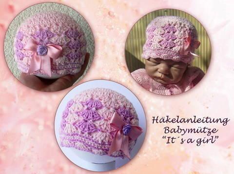 Häkelanleitung Babymütze - It's a girl bei Makerist