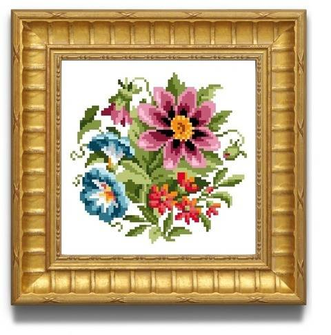 Pretty flowers. Cross stitch pattern